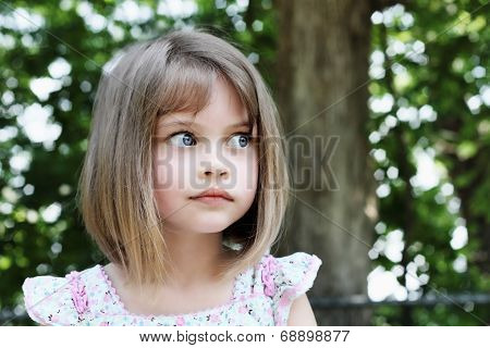 Cute Girl With Bobbed Hair