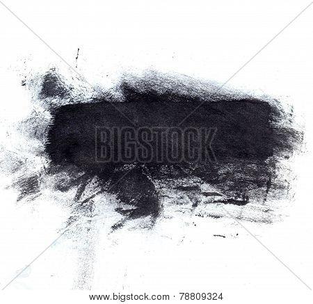 Large black ink splotch. Artistic backdrop.