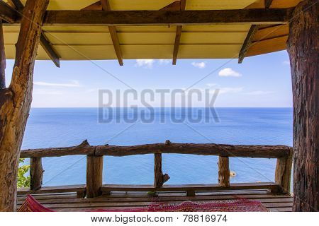 Terrace With Incredible View On The Sea, Thailand, Krabi, Lanta