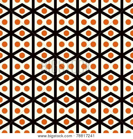 Brown Rhomboid And Circle Pattern On Pastel Color