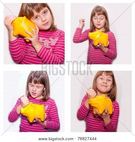 Teen Girl With Yellow Monebox