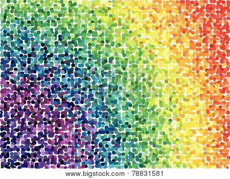 rainbow vector abstract background