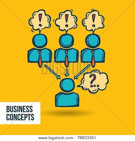 Job interview business sketch