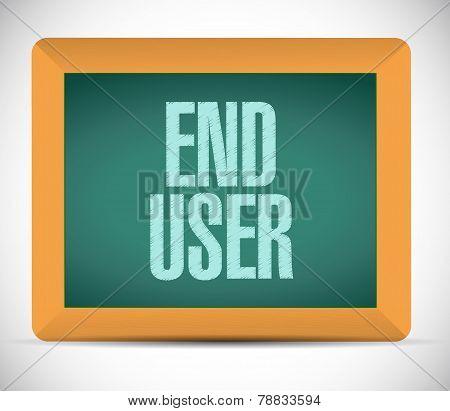 End User Board Sign Illustration Design