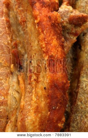 fried delicious mexican chicharron carnudo or fried mexican pork skin with atached meat exquisite famous mexican plate or snack poster