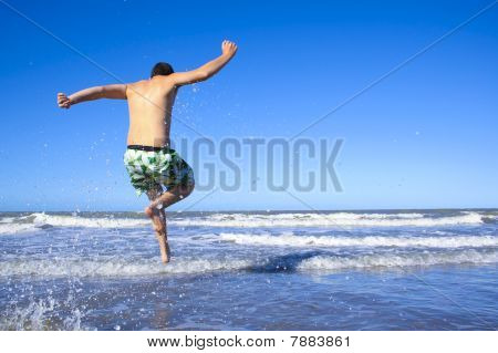 young man at beach