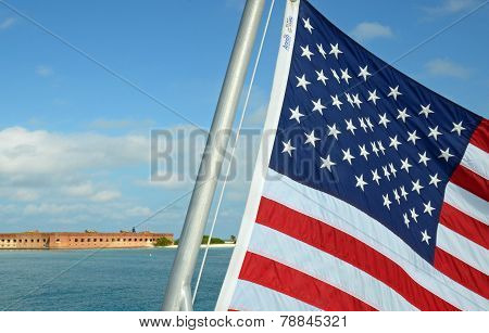 Flag outside of Dry tortugas