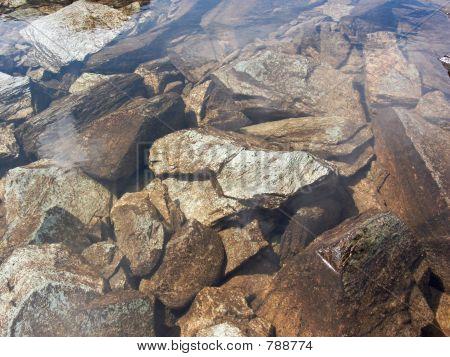 Water boulder background