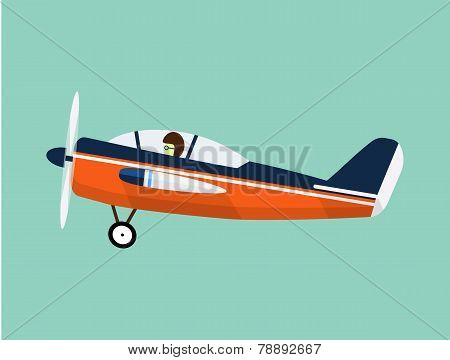 Airplane flat illustration