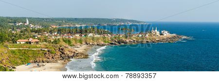 View From The Lighthouse At Sunny Beach And Fishing Harbour