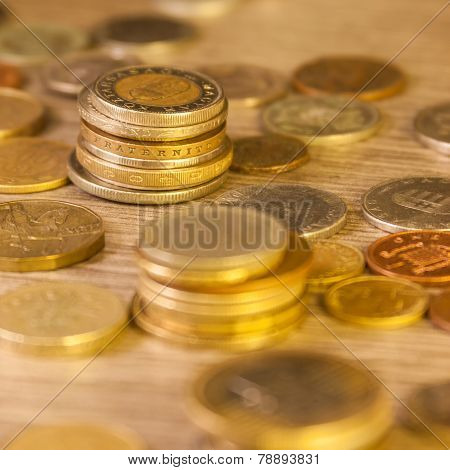 Old Stacked Coins