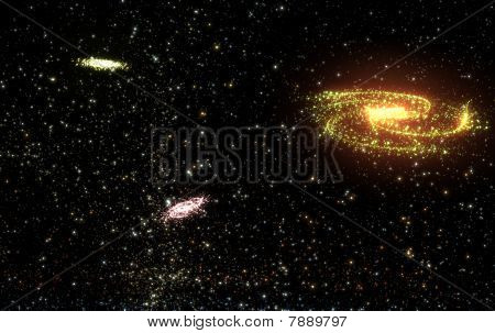 Spining Galaxies