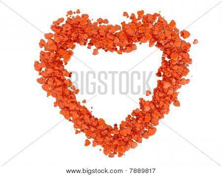 Heart symbol from hearts