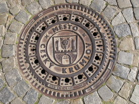 Manhole cover in the Czech Krumlov