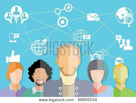 people group and social network concept