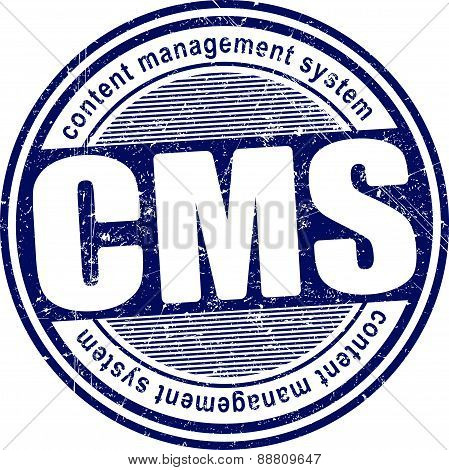 Cms (content Management System) Rubber Stamp
