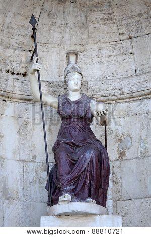 Statue Dea Roma In Rome, Italy