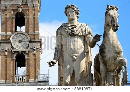 Statue Of Pollux In Rome, Italy