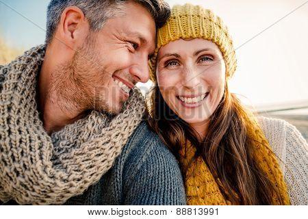 boyfriend girlfriend selfie on a walk