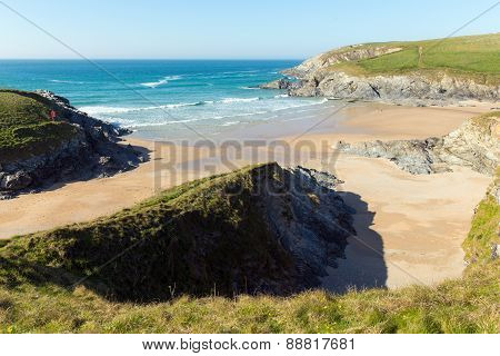 Porth Joke beach next to Crantock bay Cornwall England UK near Newquay and on South West Coast Path
