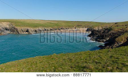 Porth Joke beach next to Crantock bay Cornwall England UK near Newquay and on South West Coast Path