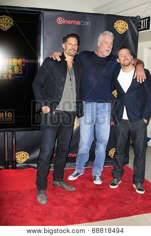 LAS VEGAS - APR 21: Joe Manganiello, Kevin Nash, Channing Tatum at the Warner Bros. Pictures Exclusive Presentation the Summer of 2015 and Beyond at Caesars Pallace on April 21, 2015 in Las Vegas, NV