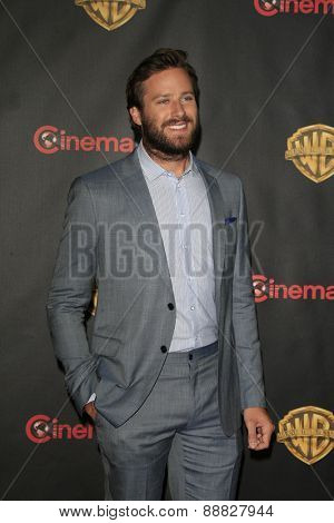 LAS VEGAS - APR 21: Armie Hammer at the Warner Bros. Pictures Exclusive Presentation Highlighting the Summer of 2015 and Beyond at Caesars Pallace on April 21, 2015 in Las Vegas, NV