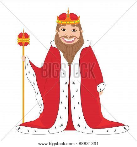 King - Isolated Vector Drawing