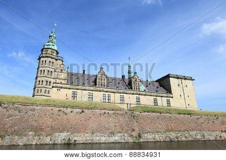 Kronborg Castle, unesco world heritage and immortalised as Elsinore in Shakespeare's Hamlet, near Copenhagen in Denmark poster