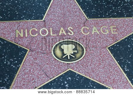 Nicolas Cage's Hollywood Star