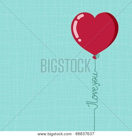 Valentine's Day Balloon With I Love You Words