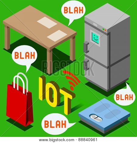The Chatter Of Things - Isometric Internet Of Things
