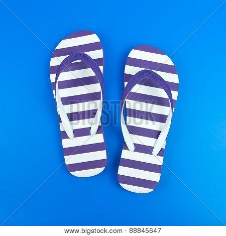 Purple Striped Sandal