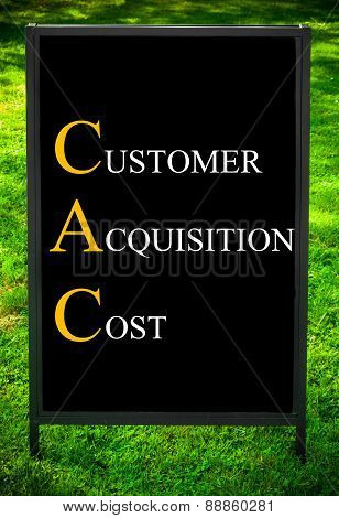Business Acronym Cac As Customer Acquisition Cost