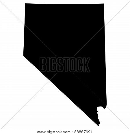 Map Of The U.s. State Of Nevada