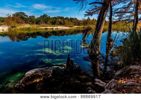 Blue Skies and Clear Water at Garner State Park, Texas
