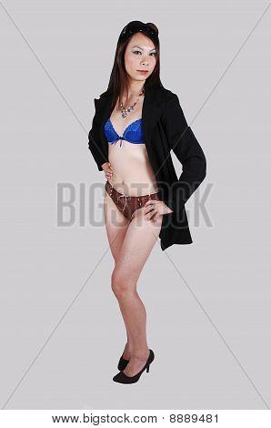 Chinese Girl In Underwear.