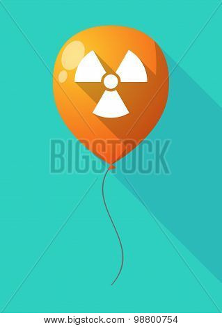 Long Shadow Balloon With A Radio Activity Sign