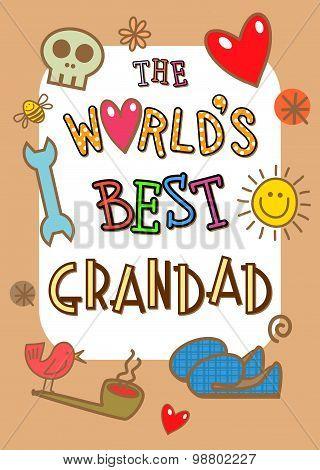 Worlds Best Grandad Card