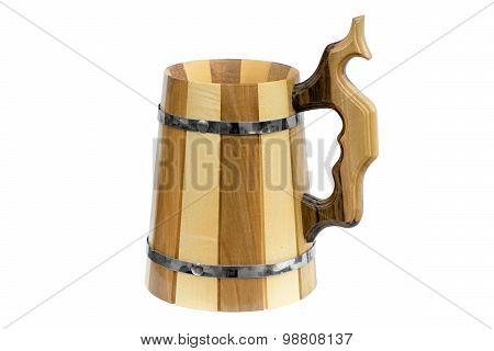 Wooden Beer Mug.