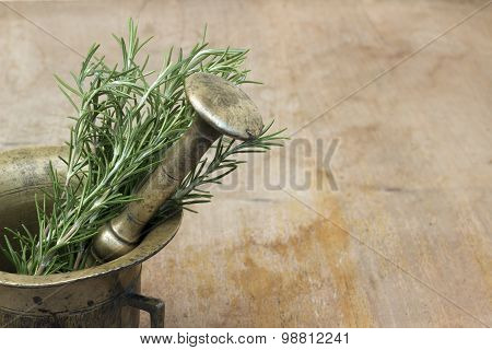 Rosemary and mortar