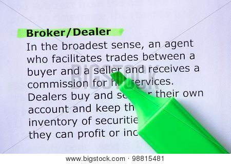 Broker/dealer