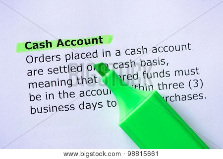 Cash Account