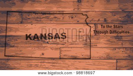 Kansas Map Brand