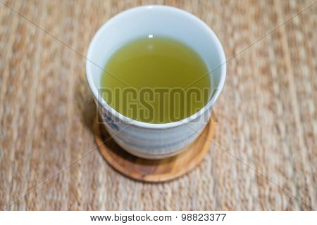 A Cup Of Hot Green Tea