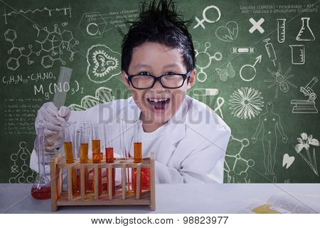 Mad Scientist With Chemical Fluid