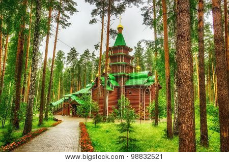 Monastery  Holy Royal Martyrs Tract Ganina Yama Ekaterinburg Russia.