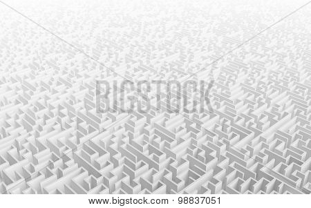 High Quality Illustration Of A Large Maze Or Labyrinth