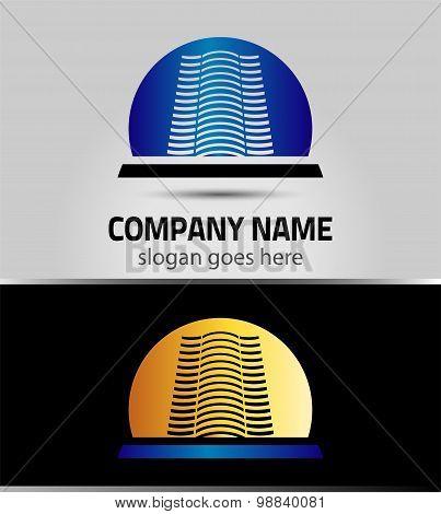 Real estate icon logo. Eps 10 illustration. Easy to edit