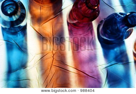 Abstract Glass Shadow Patterns